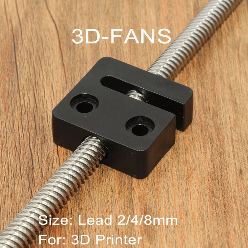 1Pc 3D Printer Parts T Openbuilds T8 Screw 8mm Nut Block Pitch 2mm Lead 2 / 4 / 8mm