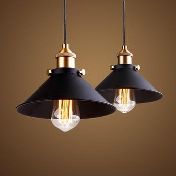 black vintage industrial pendant light nordic 1