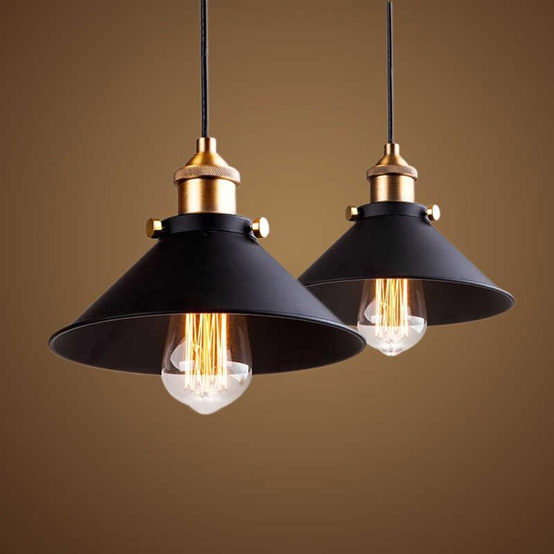 أسود خمر الصناعية قلادة ضوء الشمال الرجعية أضواء الحديد عاكس الضوء لوفت اديسون مصباح قفص معدني غرفة الطعام الريف