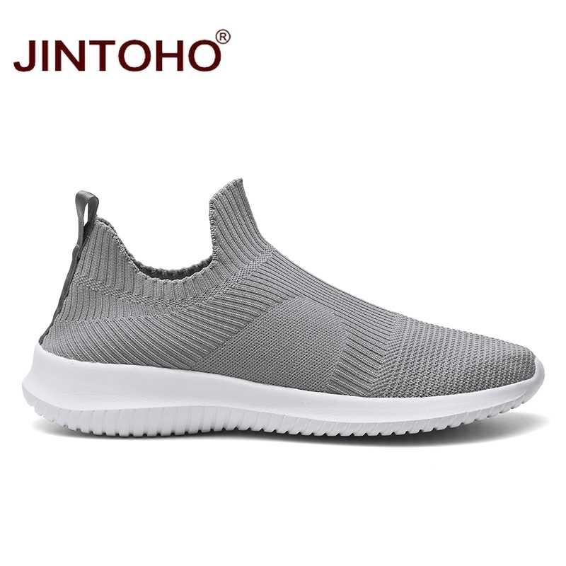 Лето jintoho, модные мужские кроссовки, дышащая мужская модная обувь, слипоны, кроссовки для мужчин, дешевые мужские лоферы, обувь без шнурков
