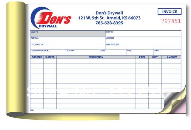 printing invoice book a4 size duplicate triplicate on aliexpress com