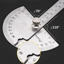 14.5cm 180 Degree Adjustable Protractor multifunction stainless steel roundhead angle ruler mathematics measuring tool
