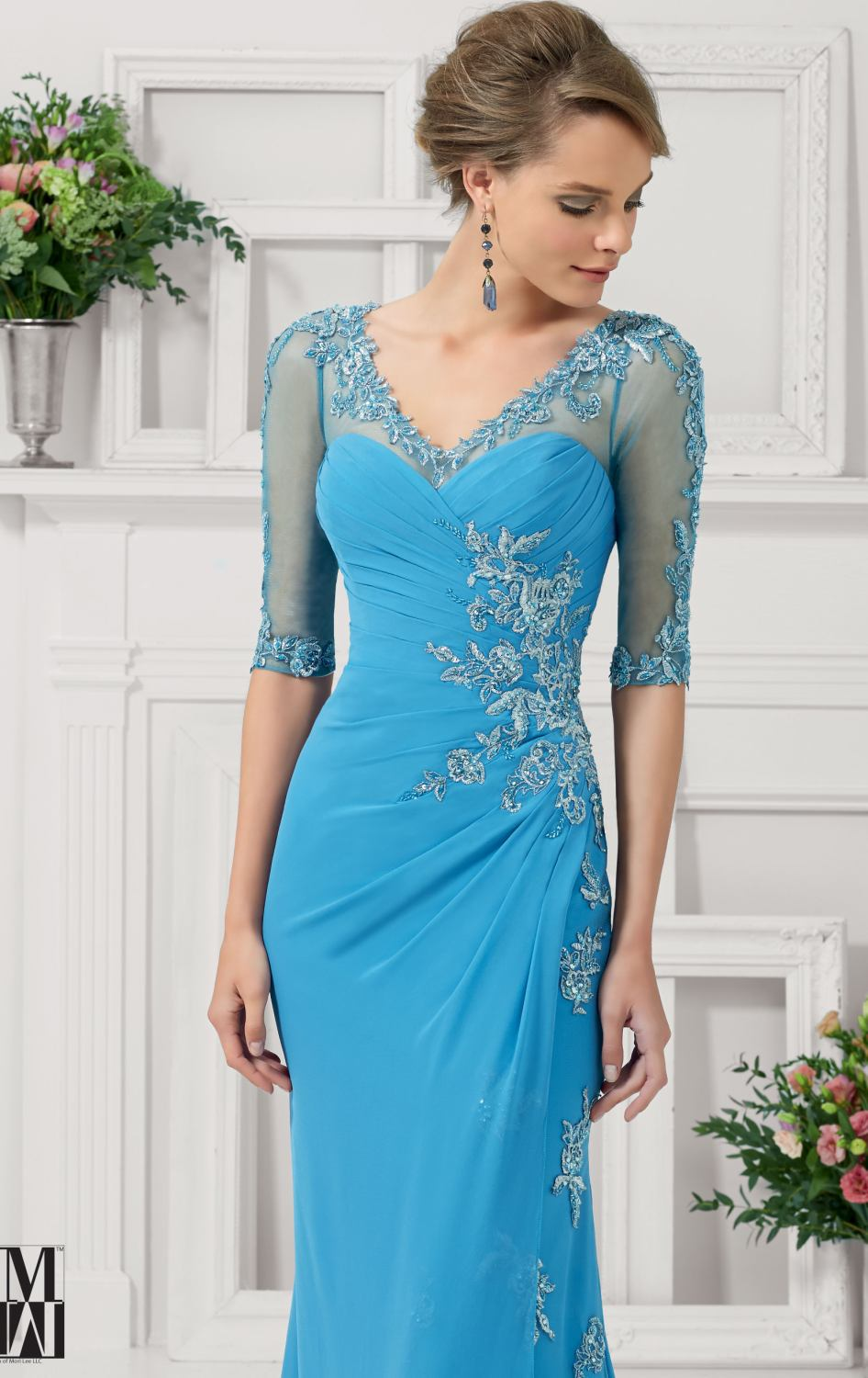 Long Light Blue and the Bride Dresses Mother of Big | Dress images