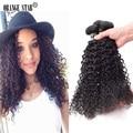 "Barato brasileira Kinky Curly virgem extensões de cabelo 3 Pcs brasileiro virgem cabelo Curly 8 - 30 "" não transformados cabelo humano brasileiro AJ305"