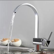 360 градусов предусматривает подачу названного кухонный Кран. На Бортике нержавеющей стали Поворотный одно отверстие/ручка хром закончил кухня/бассейна смеситель.