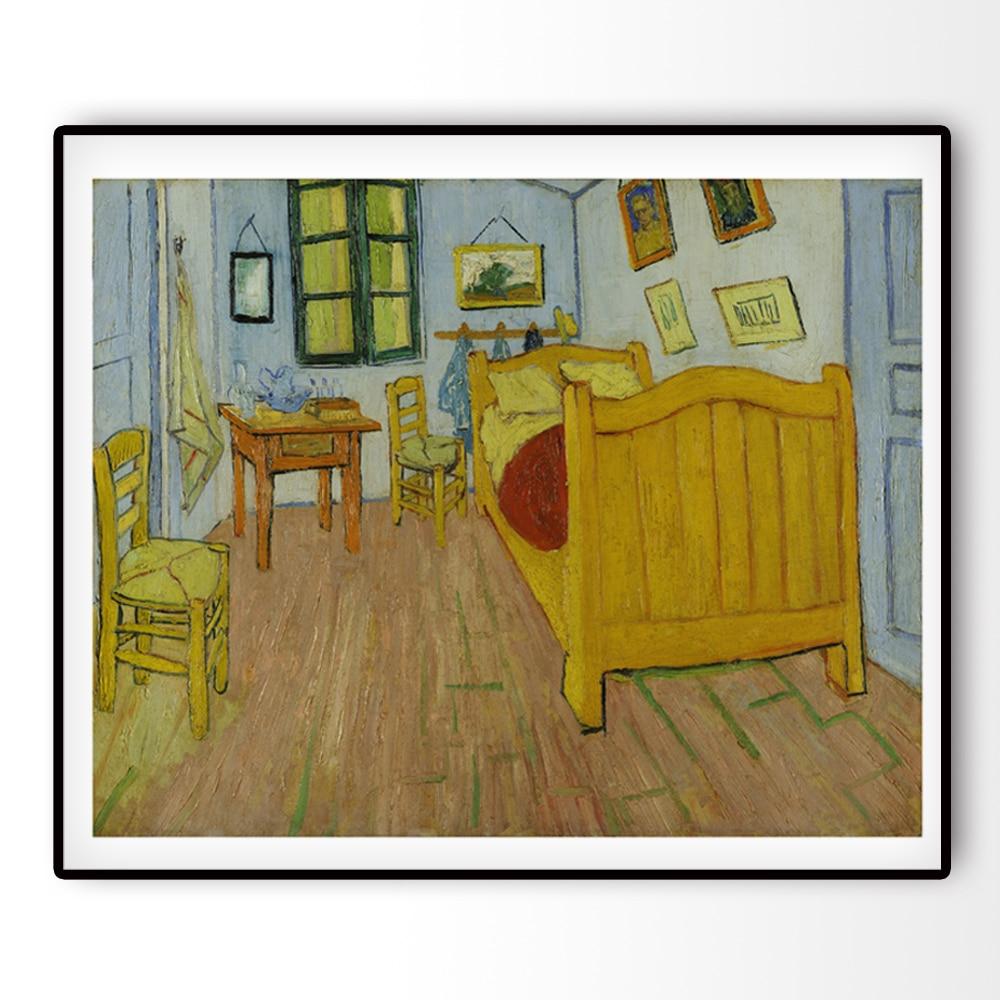 US $5.62 25% di SCONTO|Canvas Art Print Pittura di Fama Mondiale De  slaapkamer La Camera Da Letto di Van gogh Copia di Stampe Su Tela Per La ...