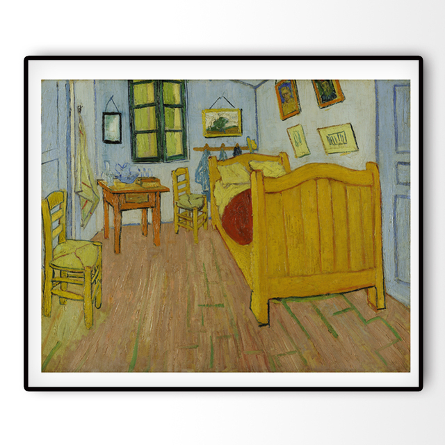 Leinwand Kunstdruck Weltberühmten Gemälde De slaapkamer Die ...