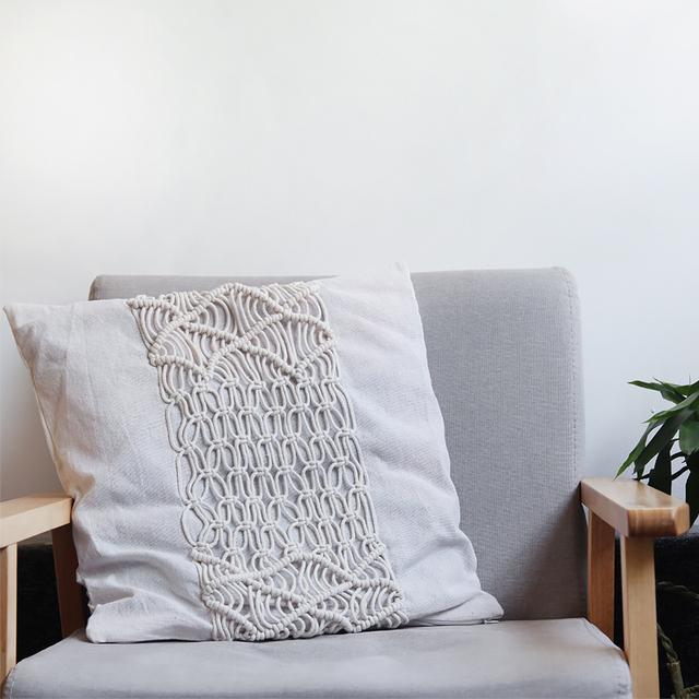 Bohemian Hand-Woven Pillow Cover