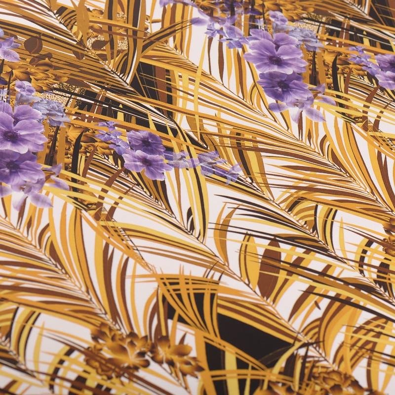 30mm stretch heavy crepe silk fabric reed digital printing silk stretch fabric soft cheongsam dress silk cloth 127cm width - 5