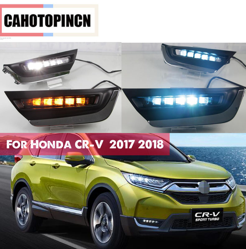 High match For Honda CRV CR V 2017 2018 LED DRL Driving Daytime Running Light fog