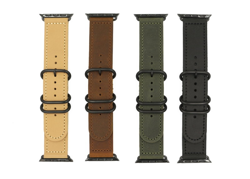 URVOI band for apple watch series 1 2 strap for iwatch classic buckle belt soft comfortabl handmade Retro Leather band 38mm 42mm