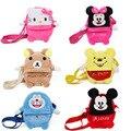Venda quente Disney Brinquedos Backbag Bonito Dos Desenhos Animados de Pelúcia Para O Menino e Meninas Anime Mini Sacos de Escola Sacos Do Mensageiro Mochila de Pelúcia Dj043