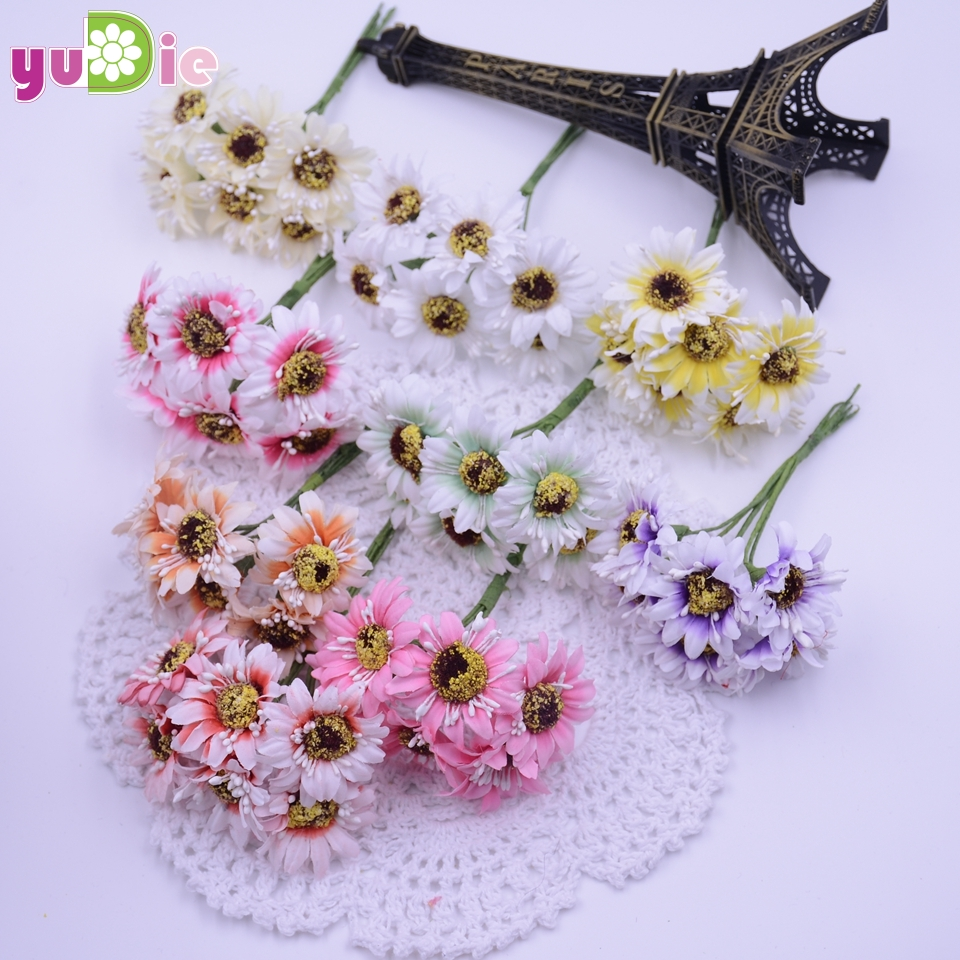 Online buy wholesale silk flower wholesale from china silk flower sales 60pcs bag small daisy artificial flowers silk flower wholesale plastic flower gerbera diy handmade dhlflorist Choice Image