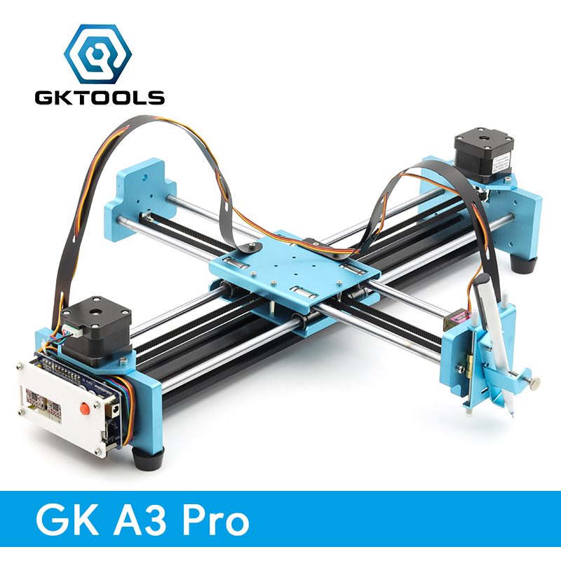 все цены на GK A3 Pro DIY All Metal Drawbot Pen Drawing Machine Lettering Robot Corexy XY-plotter CNC Draw Robot Kit Writing Robot Toys