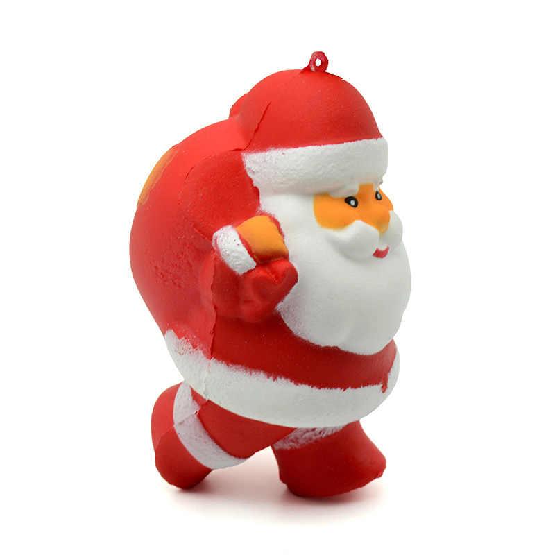 Jumbo Kawaii, Санта Клаус, елка и снеговик, мягкие игрушки, ароматизированные, мягкие, медленно поднимающиеся, сжимаются, игрушки для снятия стресса