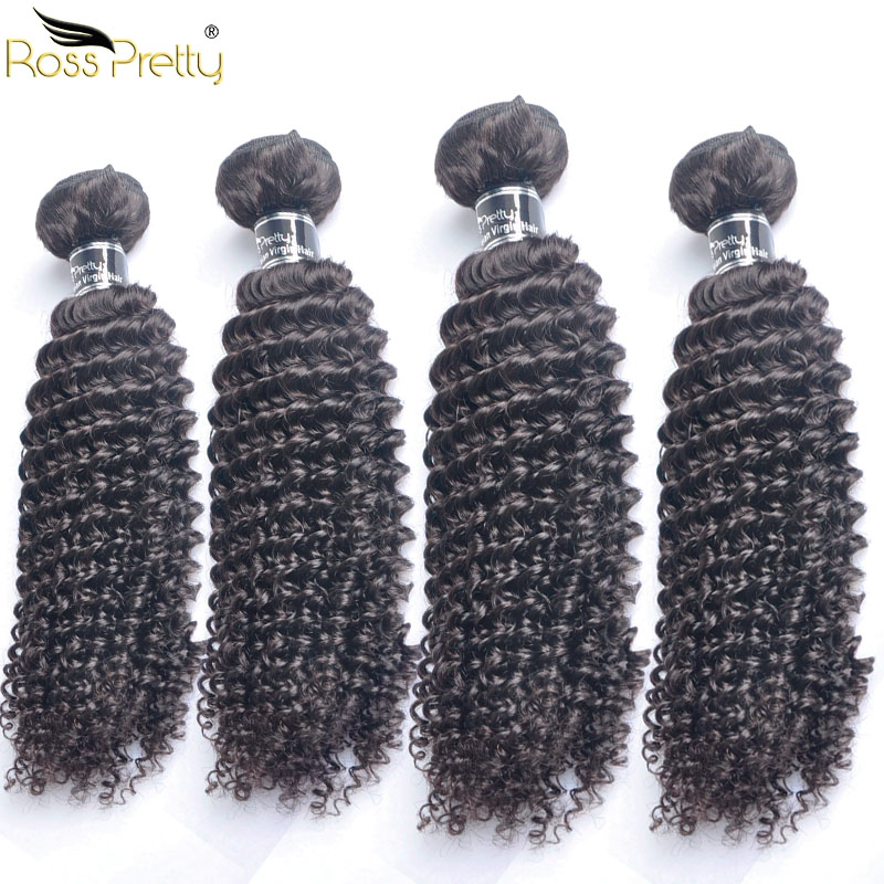 Ross Pretty Kinky Curly Hair 4 pieces Peruvian Remy Hair Weft Original Human Hair Weave High Quality Hair Good Price Sale