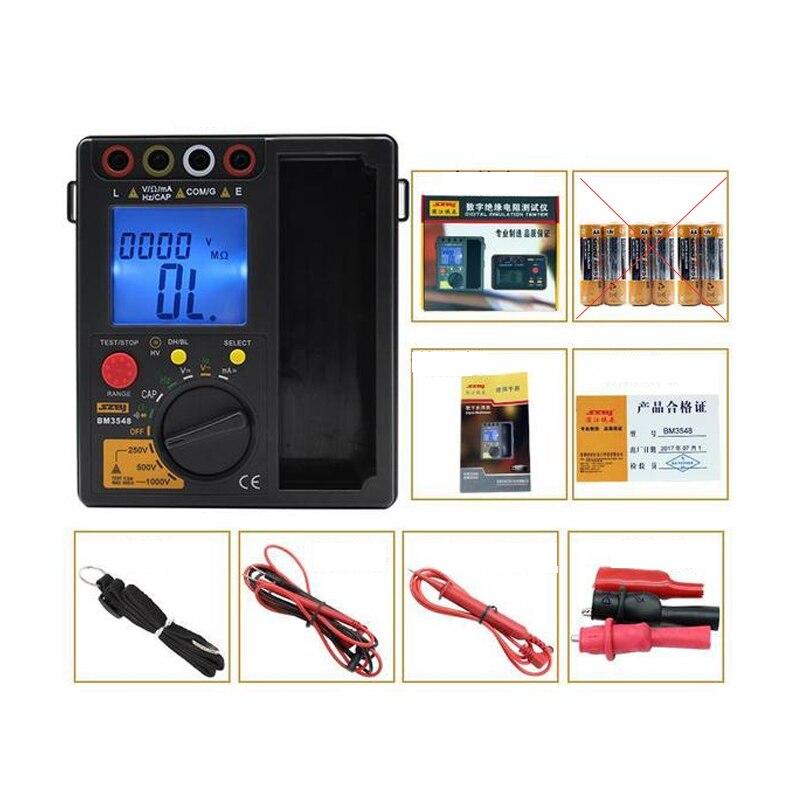SZBJ BM3548 2 in 1 Digital Multimeter+Insulation Resistance Test Meter Megohmmeter Megger Ohm Tester 250V/500V/1000V Resistance Meters     - title=