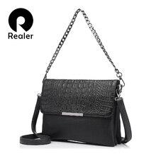 REALER  messenger bags women artificial leather handbag clut