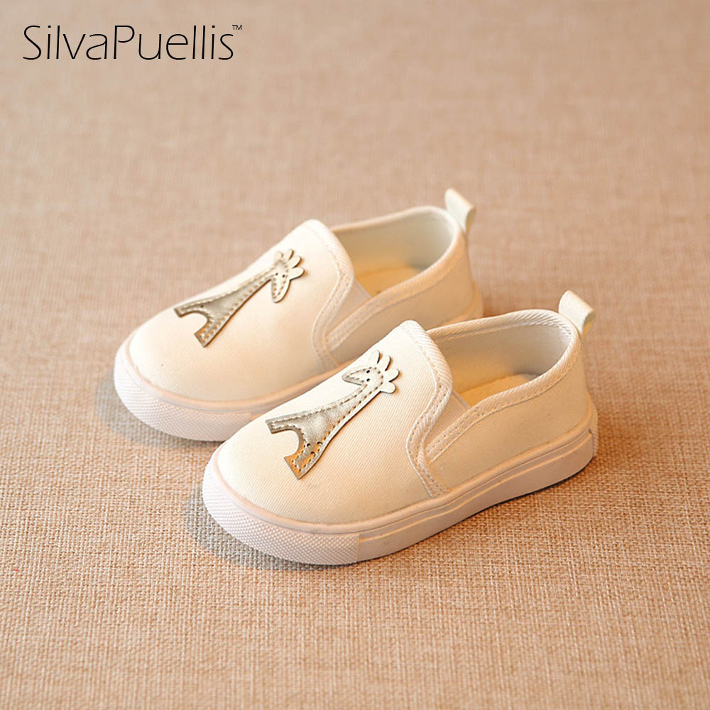 SilvaPuellis 2017 New Boys And girls Slip-On Animal Prints Rubber Soft Bottom Canvas Shoes Children Beautiful Flat Casual Shoes baijiami 2017 new children solid breathable slip on pu casual shoes boys and girls spring summer autumn flat bottom shoes