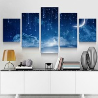 5 Panels Set Modern Home Living Room Decoration Canvas Printings High Definition Poster Picture Art Wall