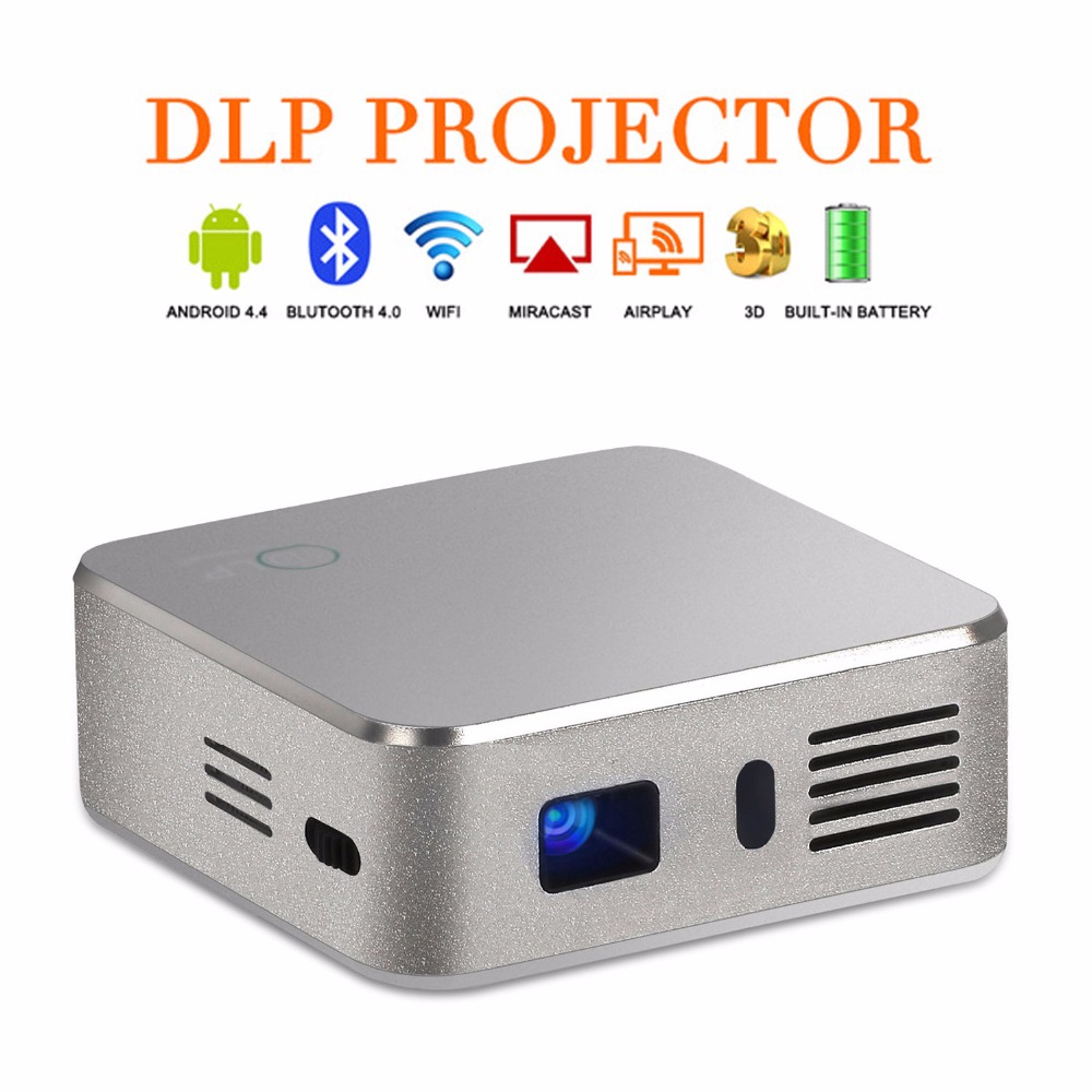 Diseño único E05 de Bolsillo DLP Mini Proyector Es Compatible Con Airplay Miraca
