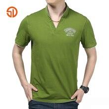 Senlin Jeep Fashion 2017 Summer Style Cotton T Shirt Men Plus Size V Neck Short Sleeve Pullover Tshirt Homme T-shirt