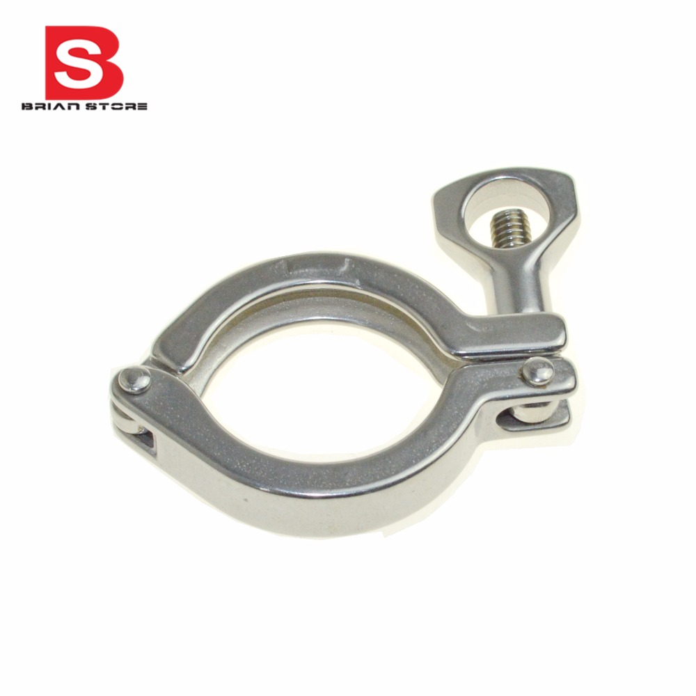 1set 45mm 1 75 1 75 1 3 4 inch od ss304 ss316 304 316 stainless steel sanitary pipe weld ferrule tri clamp ptfe gasket 1.5 - 8 Sanitary Stainless Steel  Tri Clamp Clamps  Clover for  Ferrule  SS304