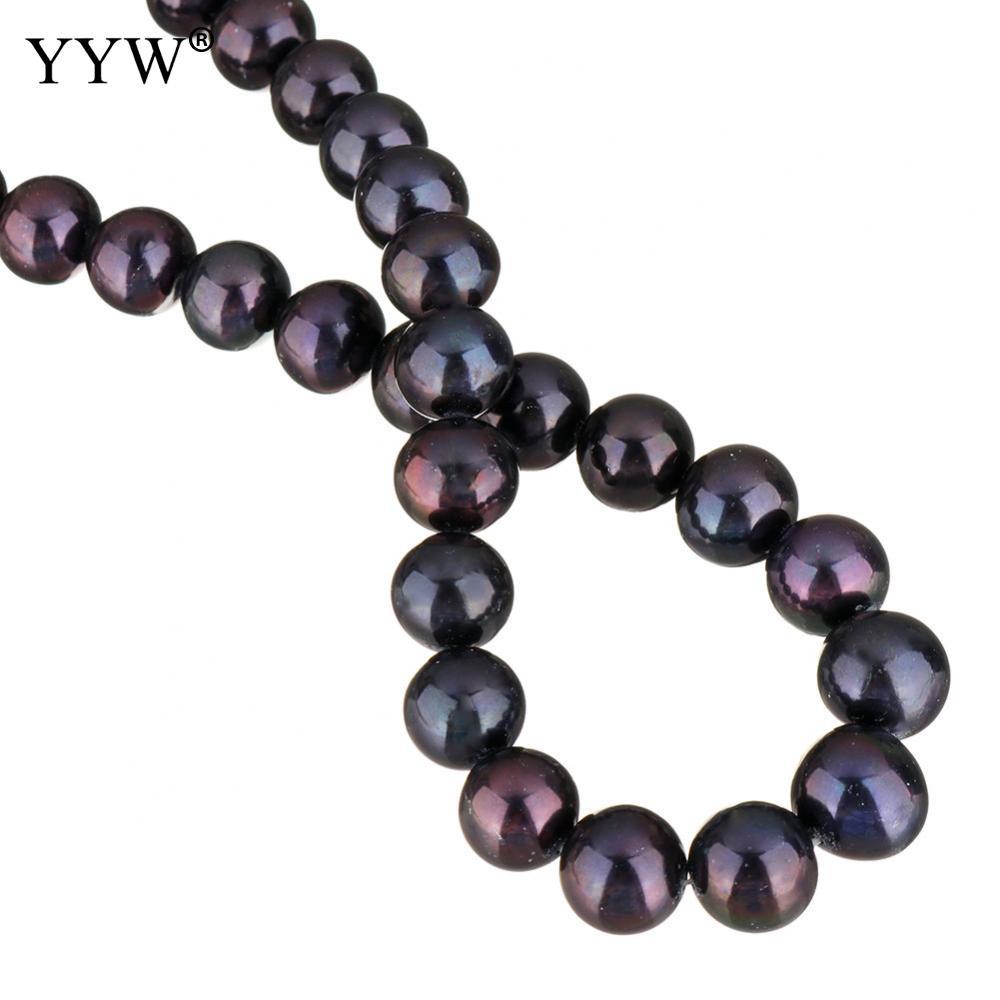Культивированный пресноводный жемчуг неправильной формы бусины черный 11 12 мм около 0,8 мм продан через приблизительно 15 дюймовый Strand - 2