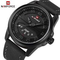 New Luxury Brand NAVIFORCE Men Fashion Casual Watches Men S Quartz Clock Man Leather Strap Army