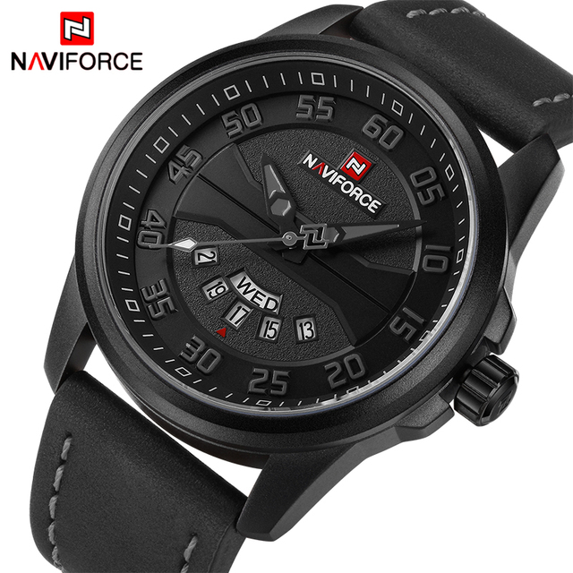 New Luxury Brand NAVIFORCE Men Fashion Casual Watches Mens Quartz Clock Man Leather Strap Army Military Sports Wrist Watch