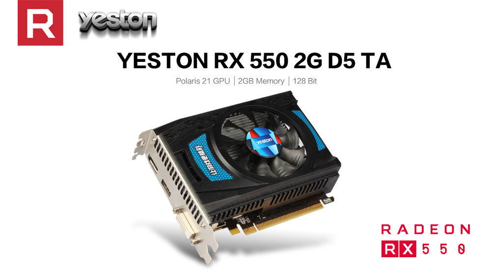 US $72 96 25% OFF Yeston Radeon RX 550 GPU 2GB GDDR5 128bit Gaming Desktop  computer PC Video Graphics Cards support DVI D/HDMI PCI E 3 0-in Graphics