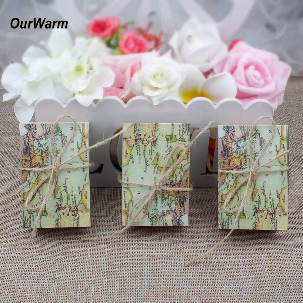 Ourwarm 10pcs Candy Box Travel Themed Wedding Decoration Wedding