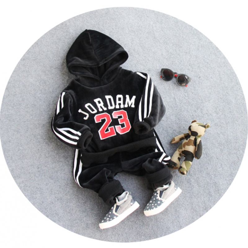 Boys Clothing Sets 2016 Autumn Kids sport suit Letter Hoodies + Pants Children tracksuits Boys Outfits Clothes for 2-8 years