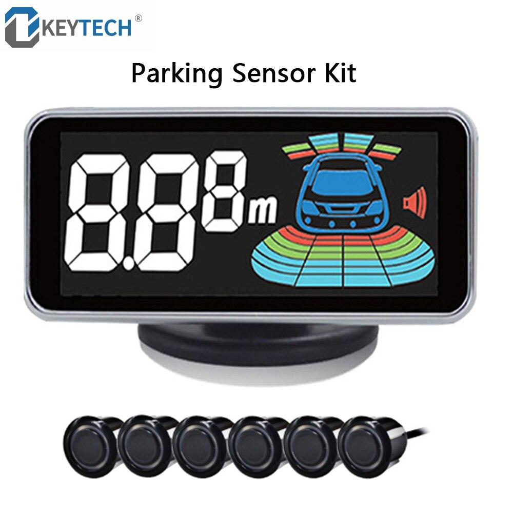 Capteur de stationnement OkeyTech 6 capteurs voiture Radar de recul Automobile détecteur de stationnement Auto aide au stationnement Radar de recul