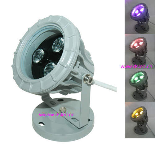DMX compitable,high power 9W outdoor LED RGB spotlight,LED projector light,DS-06-50-9W-RGB,3*3W RGB 3in1,EDISON chip,12V DC.