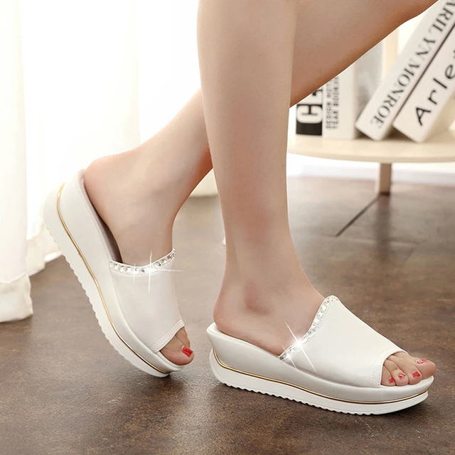 sapato feminino Summer 2016 Girl Sandals Slides Women Slippers Sandals Shoes Wedges Platform Shoes sandalias mujer RD864541
