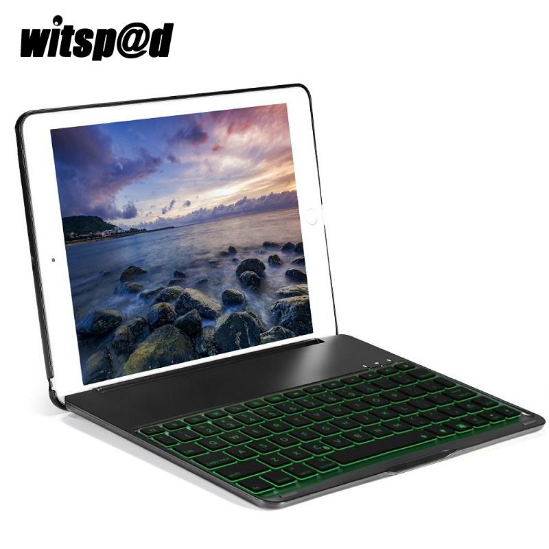 Drop resistance Slim USB Backlit Keyboard for iPad 9.7 inch 2017 Case Cover with Wireless Bluetooth 3.0 Keyboard for Tablet PC wheat breeding for rust resistance