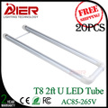 AC85-277V 2ft u led tube, new style u shaped led tube 600mm 18Watt