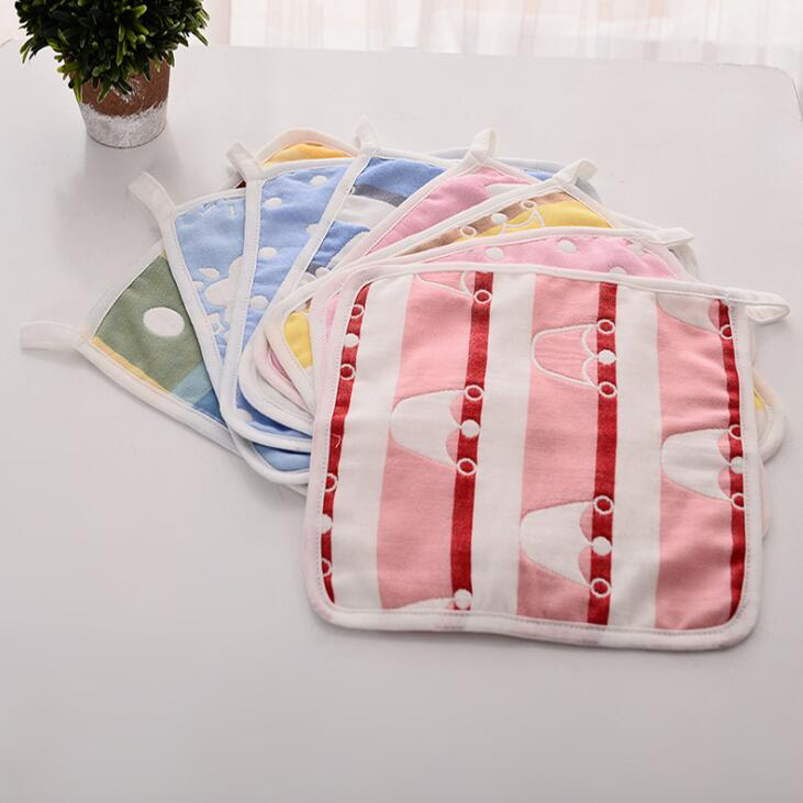 23cm23cm new arrive baby towels gauze handkerchief towel baby 6 layers cotton small towel QD15
