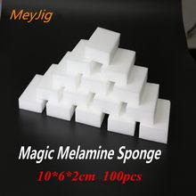 Esponja mágica de melamina 100 peças, esponja para cozinha, escritório, banheiro e cozinha, branca, 100*60*20mm/limpeza de prato nano