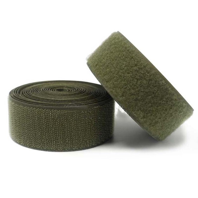 2-10cm  Width olive  velcros no adhesive hook loop fastener tape for sewing magic tape sticker velcroing strap couture strip