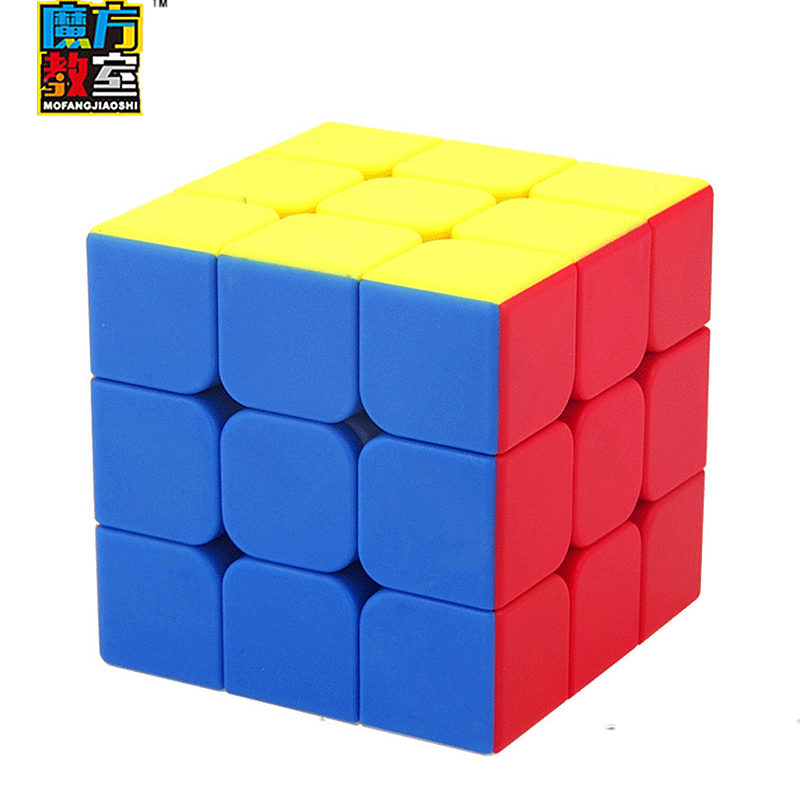 MoYu Mofangjiaoshi MF3S Magic Cube Sticker Less Speed Cubes For Students Frosted Surface Puzzle Cubes Educational Toy For Kids