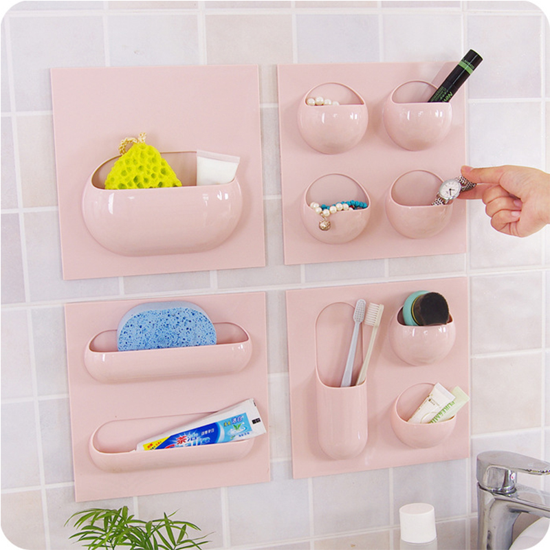 Creative Seamless Plastic Powerful Wall Universal Hook Bathroom Wall Bathroom Organizer Kitchen Multifunctional Storage Hook. ...