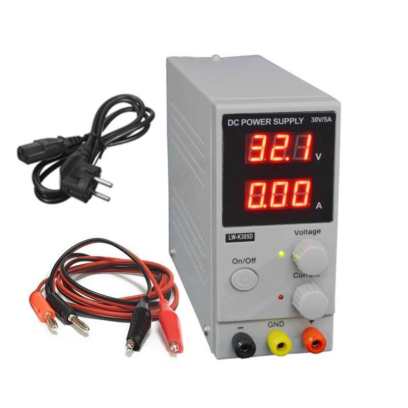 LW K305D DC питание Регулируемый цифровой литиевый батарея зарядки 30 В в 5A переключатель лаборатории напряжение регуляторы