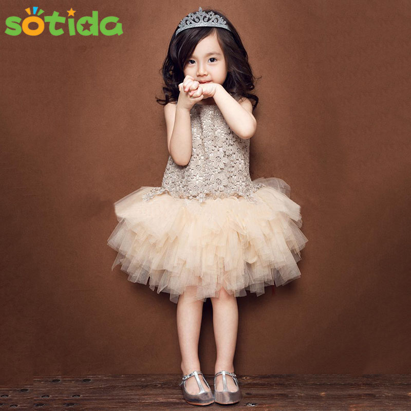 Kids baby clothing Baby Girl Dress 2016 Summer Party sleeveless patchwork girls tutu dress princess chiffon toddler lace flower 2016 new summer girls kids rose flower princess sleeveless party elegant tutu lace dress cute baby clothes children clothing