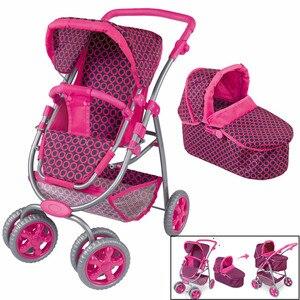 Большая детская коляска, игрушка для девочки, детские игрушки для ролевых игр, мебель, коляска, детская кукольная коляска, регулируемая, уте...