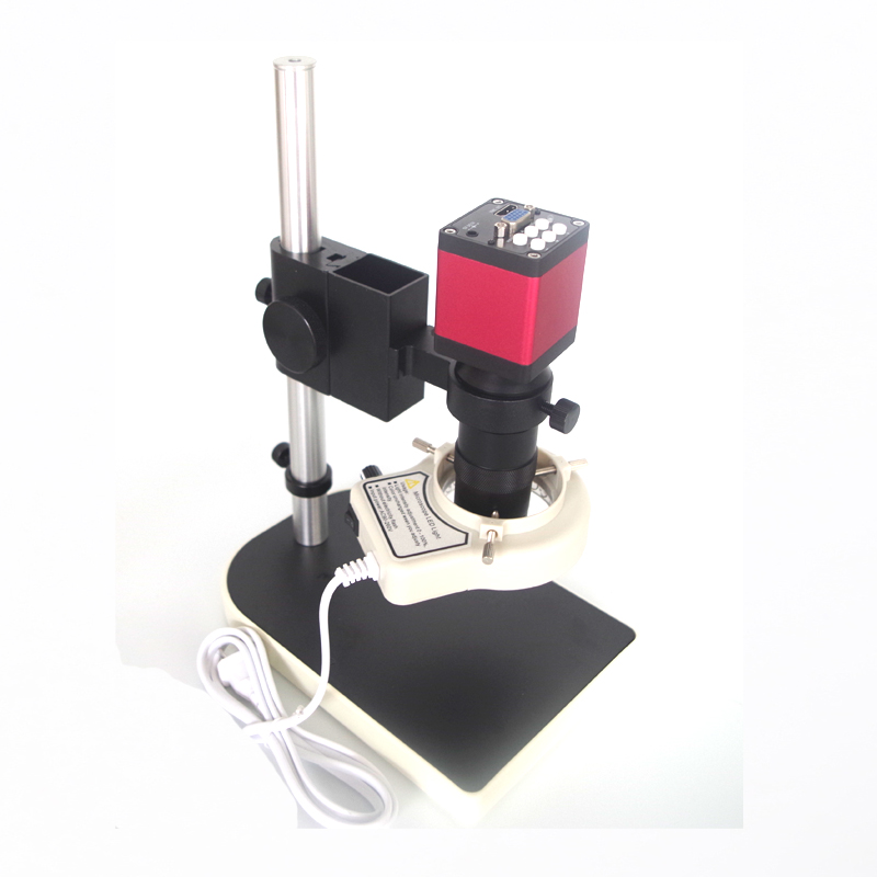 13MP 720P HDMI VGA Industrial digital video Microscope Camera+8X -130X Zoom C-mount Lens Glass +56 led light