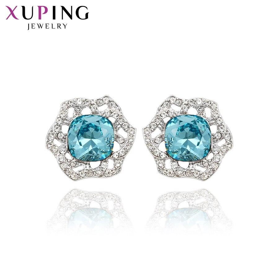 Xuping boucles d'oreilles hexagonales étoile Design cristaux de Swarovski bijoux populaires jolis cadeaux d'anniversaire pour les femmes S143.5-92168