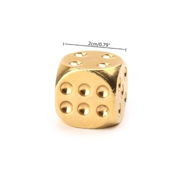 New 1 Pc Solid Polished Brass Dice 20mm Metal Cube Copper Poker Bar Board Game Gift Entertainment Accessory solid polished brass dice 20mm metal cube copper poker bar board game gift 1pc