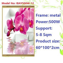 N500W-12,2 PCS/lot,Free shipping,wall mount crystal,warm wall with picture,Infrared heater,carbon crystal heater,with thermostat
